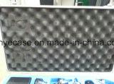 Caja de aluminio para los instrumentos médicos con espuma azul del recorte