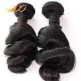 波8Aのインドのバージンの毛100%加工されていないRemyの毛の拡張を緩めなさい