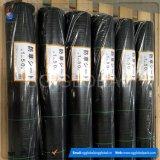 Couvre-tapis en plastique noir de Weed tissé par pp de couverture au sol de tissu