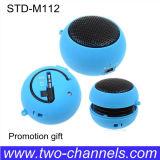Mini altavoz portable de la hamburguesa azul linda del color (STD-M112A)