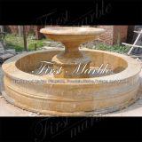 Fontana dorata semplice del granito della sabbia per la decorazione Mf-1186 del giardino