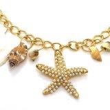 Collana naturale del pendente della nappa della conca delle coperture delle stelle marine della perla
