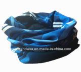 Promoção azul impressa logotipo personalizada feito-à-medida do poliéster Headband amarelo de múltiplos propósitos