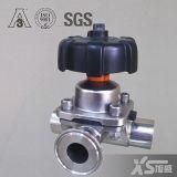 De sanitaire Afgesloten Klep van het Diafragma van het Roestvrij staal AISI316L, Gelaste Aansluting DIN 11850