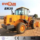 Chargeur neuf de roue de construction de 3 tonnes d'Everun 2017 avec le grand pneu