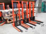 Empilhador hidráulico do Forklift da mão com o pedal do pé para levantar o empilhador manual