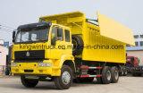 カバーのダンプトラックを運転するSinotrukのブランド6X4