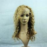 Курчавые парики, парики 100% шнурка человеческих волос передние