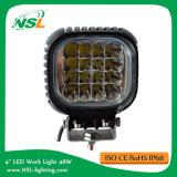正方形48W LED作業ライトトラックのフォークリフトの働きの使用作業ライトのための4インチ