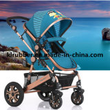 Hoher hoher Landschaftsbabypram-Baby-Spaziergänger