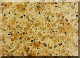 두 배 색깔 석영 돌 인공적인 대리석 싱크대 인공적인 Quartzs 저가