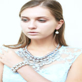 Colar nova do bracelete do brinco da jóia da forma do pendente da flor da resina do artigo