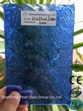 세륨, ISO (3-8mm)를 가진 파란 식물상 장식무늬가 든 유리 제품