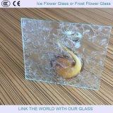 Glace en verre décorative de fleur de glace de type neuf pour la porte en verre de glissement