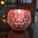 Sostenedor de vela de cristal de Tealight de la burbuja cristalina