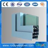 Aspecto bonito Windows y perfil del aluminio de las puertas