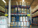 Push Back Pallet da cremalheira para Armazenamento Warehouse