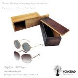 Hongdao que resbala el rectángulo de madera de la tapa para las gafas de sol pila de discos al por mayor