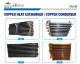Tubo de cobre y aluminio de la aleta del evaporador