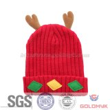 シカデザイン子供の冬によって編まれる帽子
