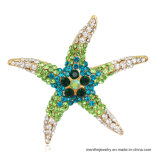 Neue Formreizende Tierstarfish-Formrhinestone-Brosche-Mehrfarbenschmucksachen