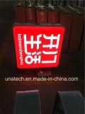 Quadro de avisos interno/ao ar livre do indicador do vácuo da caixa leve do diodo emissor de luz