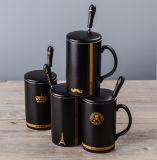 De ceramische Koppen van het Porselein van de Mok van de Koffie met Deksel