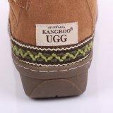 Модная обувь из овчины для молодых дам с тремя пуговицами