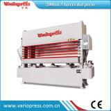 300ton 5 capas de la chapa de la máquina de la prensa/maquinaria de carpintería calientes