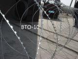 Qualität Bto-12 des Ziehharmonika-Rasiermesser-Drahts