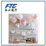 Flores decorativas do papel de tecido POM da flor de papel POM