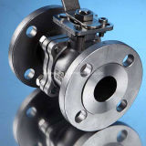 ISO5211 Mounting Pad를 가진 JIS Stainless Steel2PC Flange Floating Ball Valve