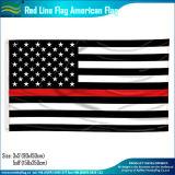 Amerikanisches Polyester-Schwarz-weiße dünne blaue Zeile Polizei kennzeichnen (J-NF05F09328)