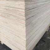 Madera de la madera contrachapada de la base del álamo para el uso del embalaje de la paleta (12X1220X2440m m)