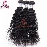 Do Virgin profundo da onda da qualidade superior de 100% cabelo humano Curly brasileiro