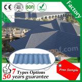 Folha ondulada da telhadura do metal da telha de pedra do material de construção