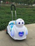 Езда Baymax на автомобиле игрушки, младенце Electriccar с штангой нажима