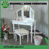 Mesa de tocador para muebles de dormitorio con 3 espejos (W-LZ-802)