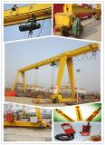 Grue de portique simple électrique de poutre de sûreté élevée élévateur de 5 tonnes