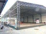 Edificio con marco de acero de la estructura de la sección de H