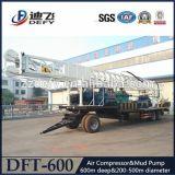 Precios de la perforadora del agua de Dft-600 600mtrailer