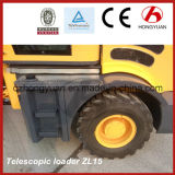 Steuerpflichtiges Loading Weight 1.5ton Telescopic Wheel Loader Zl15 mit CER
