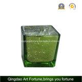 Vela de cristal cuadrada popular del cubo para la decoración del día de fiesta