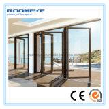 Porta de dobradura de alumínio exterior moderna do Bi de Roomeye com o dobro vitrificado