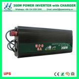 300W с инвертора силы инвертора 12V решетки солнечного с заряжателем батареи (QW-M300UPS)