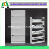 White Color 5big Drawers Mirrored Shoe Cabinet