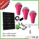 Mini kit solari chiari solari portatili ricaricabili con 3 lampadine ed il caricatore del telefono mobile