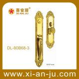 Cerradura de puerta de cobre amarillo de la manija de la mortaja del hardware de la alta calidad (DL-80B68-3)