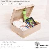 Hongdaoの高品質の習慣によって蝶番を付けられるふたのマツ木の記憶のギフト用の箱の卸売価格の_E