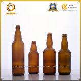 Dessus ambre en bloc de tête de bouteille à bière en verre 500ml (124)